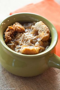 Make a bowl of the new Panera Bread Bistro French Onion Soup with this copycat recipe.