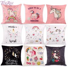 Find More Party Favors Information about FENGRISE 1PC Unicorn Cushion Cover DIY Unicorn Party Favors Cotton Linen Pillow Case Baby shower Favors Kids Birthday Gifts,High Quality gift gifts,China gift birthday Suppliers, Cheap gift kids birthday from FENGRISE Official Store on Aliexpress.com
