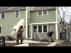 Time lapsed video of a Walpole Woodworkers custom pergola installation.