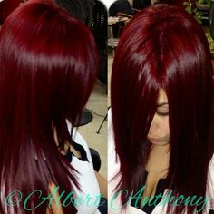 The best Deep red hair color Haircut And Color, Hair Color And Cut, Deep Red Hair Color, Deep Burgundy Hair Color, Vibrant Red Hair, Hair Colour, Color Red, Love Hair, Gorgeous Hair