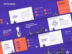 Pitch Deck Design by Vikash Yadav on Dribbble Create Powerpoint Presentation, Presentation Slides Design, Book Presentation, Slide Design, Deck Design, Presentation Templates, Layout Design, Design De Configuration, Design Transparent