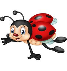 Cartoon ladybug flying isolated on white backgroun Baby Ladybug, Ladybug Art, Ladybug Crafts, Disney Drawings, Cartoon Drawings, Preschool Crafts, Fun Crafts, Ladybug Cartoon, Kids Background
