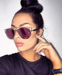 9985037b4d8  JamiiiePooh Mirrored Sunglasses