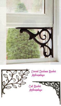 Shelf bracket to hold open old windows.