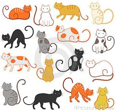 Cats pattern by Anna Raspopova, via Dreamstime
