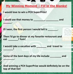 09 18 pm fill in the blanks Win For Life, Become A Millionaire, I Win, Save Yourself, How To Become, In This Moment, Cannon, Fill, Mary