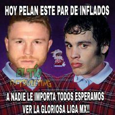 <p>La pelea se empalmó con la jornada 17 de la Liga MX; obvio el futbol manda. (Foto: Twitter.com/futbolbullying) </p>