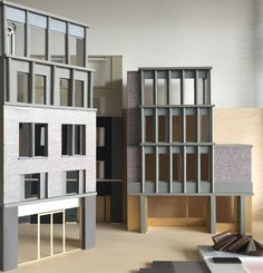 Study models for a hotel in a Conservation Area in London.