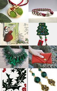 Christmas Red and Green  by Pamela on Etsy--Pinned with TreasuryPin.com