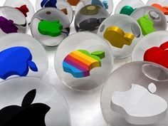 Which Apple logo would you want from the quarter machine? Apple Photo, Apple Logo Wallpaper, Mac Wallpaper, Logo Background, Spiritus, Picture Logo, Apple Products, Retro, Geek Stuff