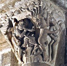 Medieval Narrative Capitals in the Basilique Ste-Madeleine, Vezelay