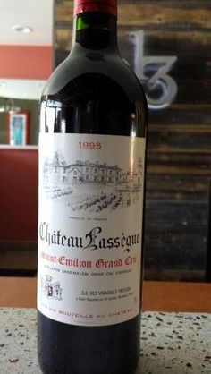 1995 Chateau Lassegue Saint-Emilion Grand cru Bordeaux.