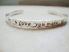 I love you more stunning sterling silver by Lolasjewels on Etsy, $36.00