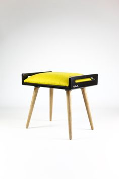 NEW Stool / Seat / Ottoman / bench in black lacquer by Habitables