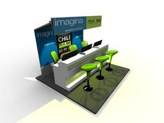 Diseño de Stand - 3dmax -bh studios
