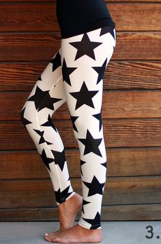 Starry Printed Leggings in small through 3XL