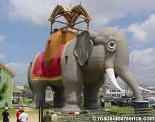 Lucy the Elephant, a turn-of-the century, elephant-shaped building in Margate, NJ