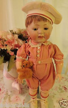 "17"" Kestner 211 Toddler Antique German Bisque Doll Antique Doll"