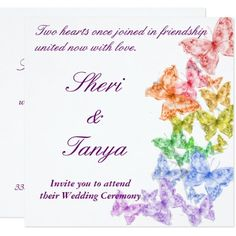 rainbow wedding invitations wedding ideas pinterest rainbows rainbow wedding and weddings - Rainbow Wedding Invitations