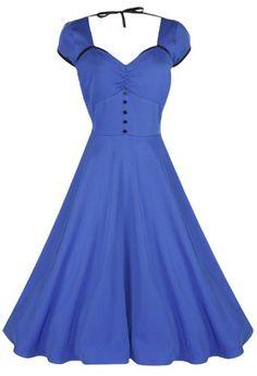 Lindy Bop 'Bella' Classy Vintage 1950's Rockabilly Style Swing Party Jive Dress (M, Blue) Lindy Bop,http://www.amazon.com/dp/B00CWZACT0/ref=cm_sw_r_pi_dp_dp7ktb1BCW0RAGWQ