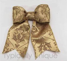 Wire edged ribbon bows 'Gold' http://stores.ebay.co.uk/Typically-Unique-Flowers-and-Gifts?_rdc=1