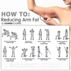"148 Likes, 3 Comments - FemaleFitBody (@femalefitbody) on Instagram: ""How to reducing ARM Fat #exercises #home #reduce #fat #arms #workout #women #flabbyarms #fitness…"""