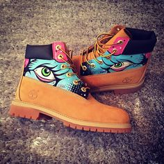 Timberland Boots Custom Customised Hand Painted Dope Footwear