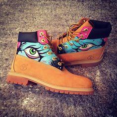 Timberland Boots Custom Customised Hand Painted Dope Footwear