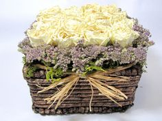 Contemporary Dried Floral Arrangement  #dried_flowers  #floral_arrangements  #flowers