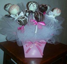 Cake Pop Arrangement for Birthday Girl!