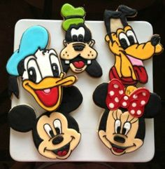 5 Cookies / Mickey And  Friends custom cookies 5cookies by SugarySweetCookies, $35.00