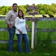Photo by D.Naftzinger Photography of Joliett PA. Outfits by Stockyard Style of Dauphin PA. Country Baby Announcement, New Baby Announcements, Farm Family, Maternity Pictures, Future Baby, Gender Reveal, Baby Love, Couple Photos, Family Pictures