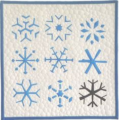 A Feeling for Snow by Brenda Gael Smith, 2010 | Twelve by Twelve.  Inspired by blue and white folk embroidery and Nordic knitwear.