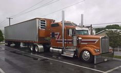 Kenworth custom with matchin reefer Custom Pickup Trucks, Custom Truck Parts, Dually Trucks, Peterbilt Trucks, Diesel Trucks, Ford Trucks, Heavy Duty Trucks, Heavy Truck, Show Trucks