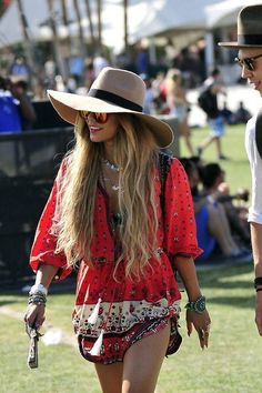 This bohemian look is perfect for that next music festival