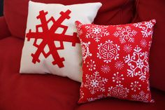 @Amy Smart knows how to modernize your Christmas home decor. See how easy it is to make a pillow with your own Christmas sewing pattern design. The designs are very winter friendly, so you can keep them out even after Christmas.