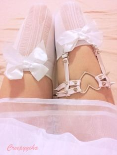 CREEPYYEHA | Pink Double Strap Heart Garter | Online Store Powered by Storenvy