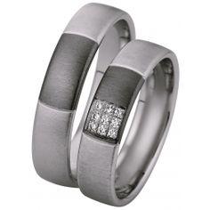 Verighete cu briliante cu interiorul bombat, pentru un confort maxim la purtare. Verigheta domnului este identica cu cea a doamnei, insa fara briliante. Modificari si variante posibile - aur de 14k sau 18k - pot fi realizate in orice combinatii de culori dorite - numarul briliantelor poate fi marit sau redus - pot fi livrate si in varianta fara briliante - la cerere sunt posibile si alte modificari Wedding Bands, Wedding Ring, Saints, Rings For Men, Engagement Rings, Jewelry, Weddings, Boyfriends, Diamond