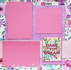 Dare to Dream - Premade Scrapbook Page 12x12 Layout