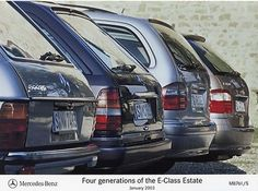 Mercedes-Benz 'Four Generations of the E-Class Estate' Press Photograph - 2003