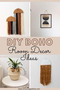 Boho Diy, Boho Decor, Diy Crafts For Home Decor, Tree Crafts, Dollar Tree Decor, Boho Room, Hacks, Decoration, Easy Diy
