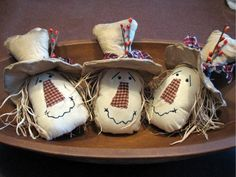 Adorable primitive country scarecrow fall decorations