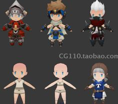 3d SD character