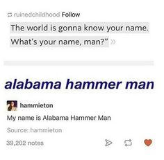 I swear I love these posts that replace Alexander's name like 'alligator magnet man'