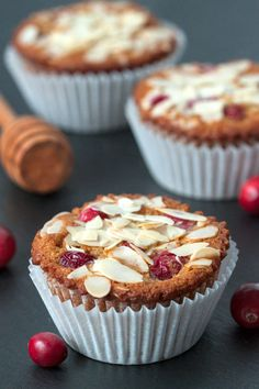 Gluten-Free Cranberry Orange Muffins from @bakingaddiction