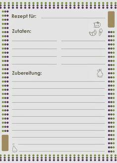 [Freebie Friday] Rezeptkarte