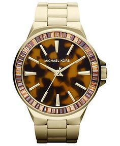 Michael Kors Watch, Women's Gramercy Gold Tone Stainless Steel Bracelet 45mm MK5723 - All Watches - Jewelry & Watches - Macy's