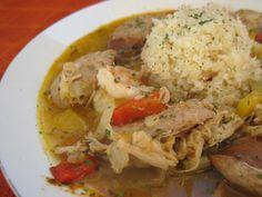 Paleo Pork, shrimp, and chicken sausage gumbo
