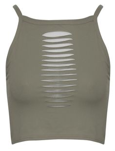 New-Womens-Plain-Front-Slashed-Laser-Cut-Design-Strappy-Crop-Tops-8-12