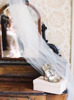 Veil and Shoes | Glamorous English Wedding | Depict Photography | Bridal Musings Wedding Blog 8